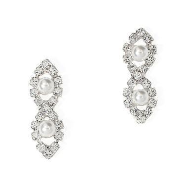 Lydia Pearl Earring Jon Richard Wedding Jewellery Diamond Earrings Jewelry Earrings