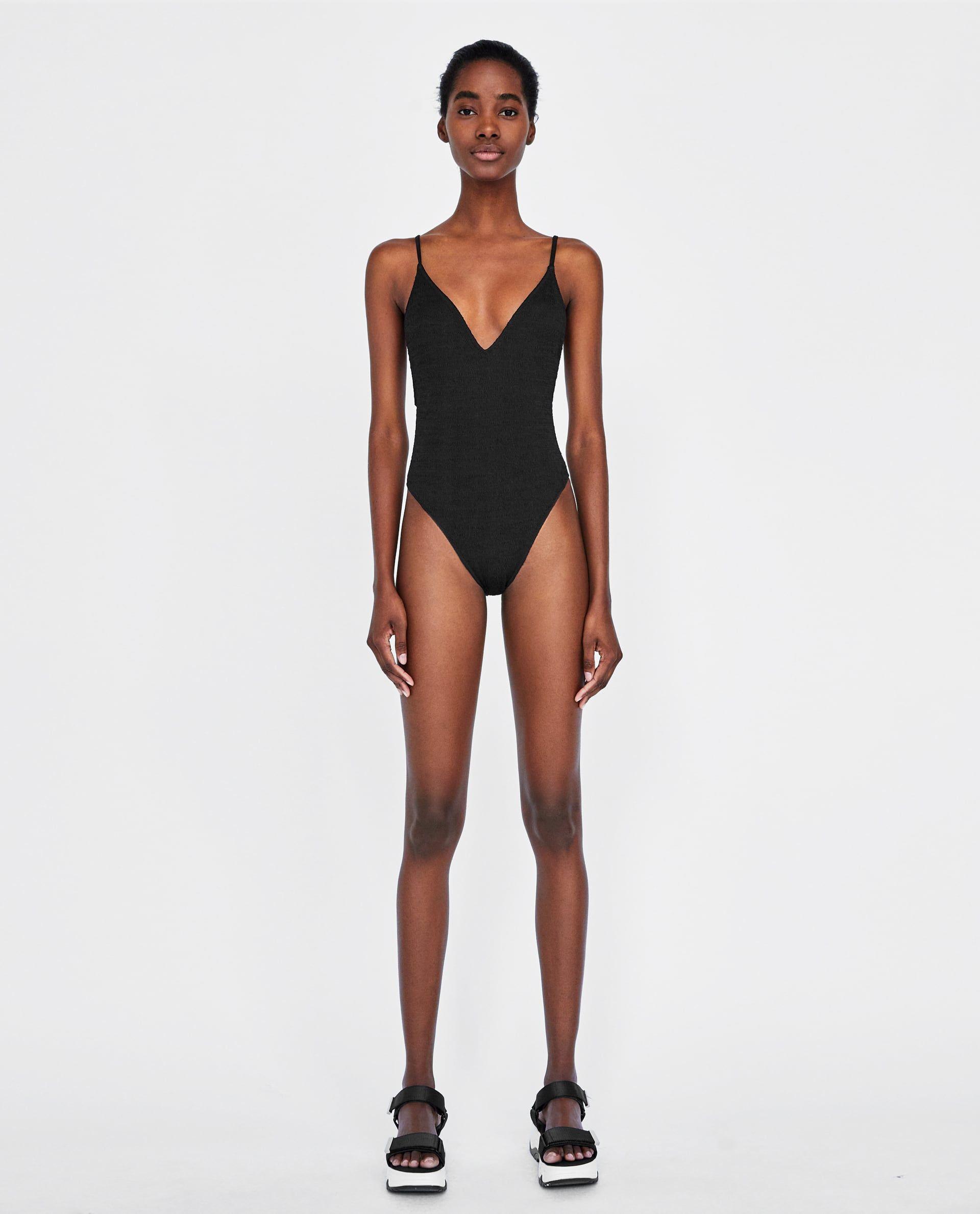 7932ca07f6 Image 1 of TEXTURED WEAVE BIKINI BOTTOMS from Zara | Swimwear in 2019 |  Bikinis, Fashion sketches, Fashion figures