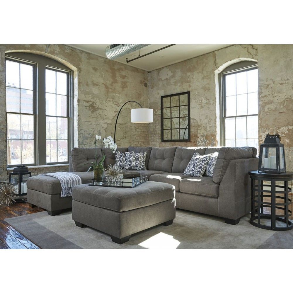 Ashley Furniture Pitkin Ottoman in Slate Ashley