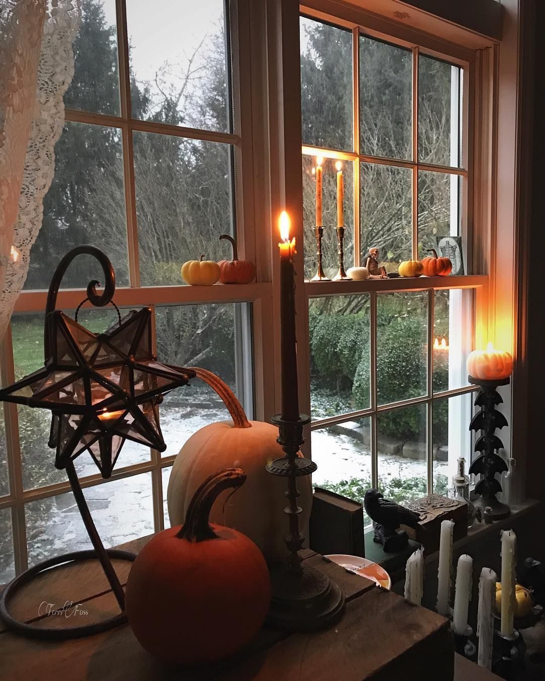 Be Safe Wherever You Are Terrifoss Winter Snow Instagood Instagram Witchesofinstagram Autumn Halloween Loveandlight Me Autumn Cozy White Pumpkins Witch Decor