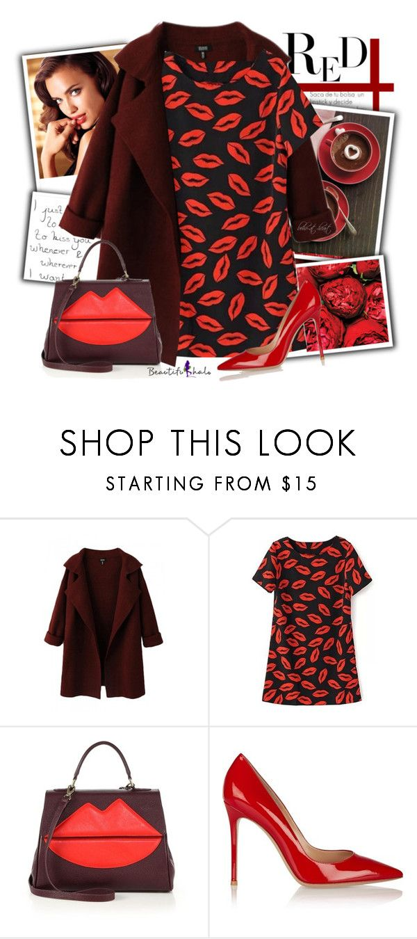 """""""Red Hot Valentines (BH 2-13)"""" by boho-at-heart ❤ liked on Polyvore featuring Avon, Sara Battaglia, women's clothing, women, female, woman, misses, juniors and beautifulhalo"""