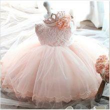 86ba58d9af8f38 Hoge kwaliteit baby meisje jurk doop jurk voor meisje zuigeling 1 jaar verjaardag  jurk voor baby meisje chirstening jurk voor infant(China (Mainland))