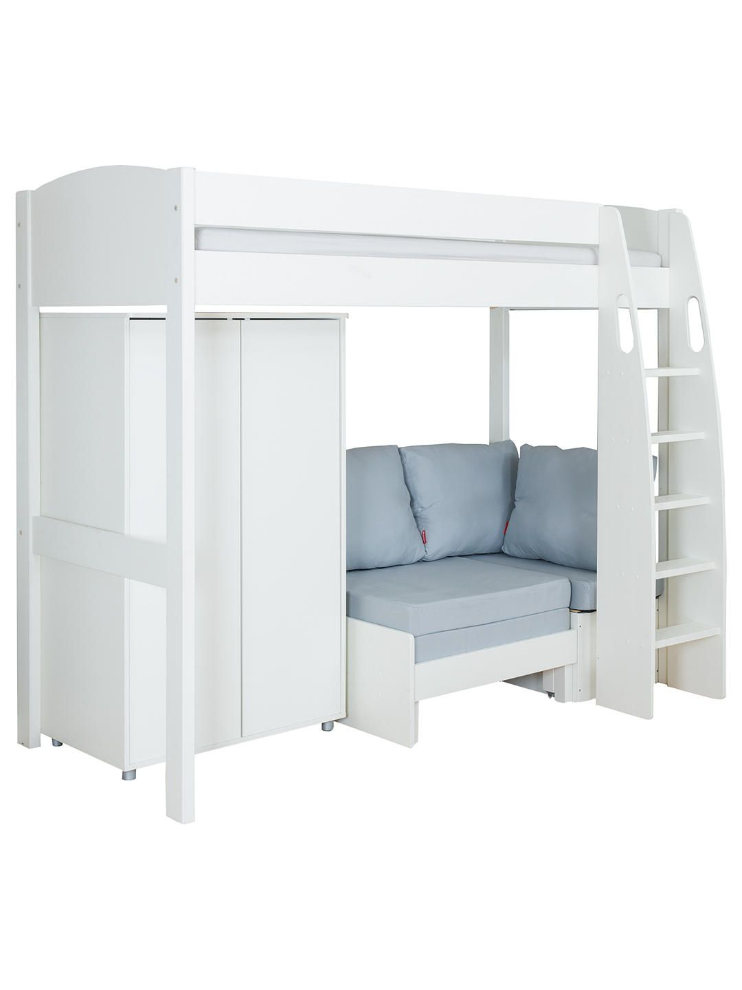 Superb Stompa Uno S Plus High Sleeper Bed With Wardrobe And Chair Theyellowbook Wood Chair Design Ideas Theyellowbookinfo