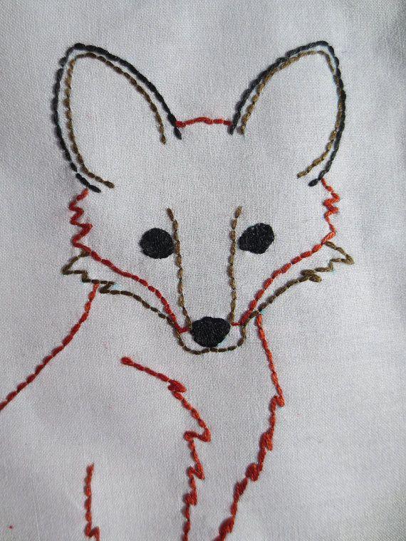 Fox PDF Embroidery Pattern von TheBellaModiste auf Etsy, $3.00 | fox ...