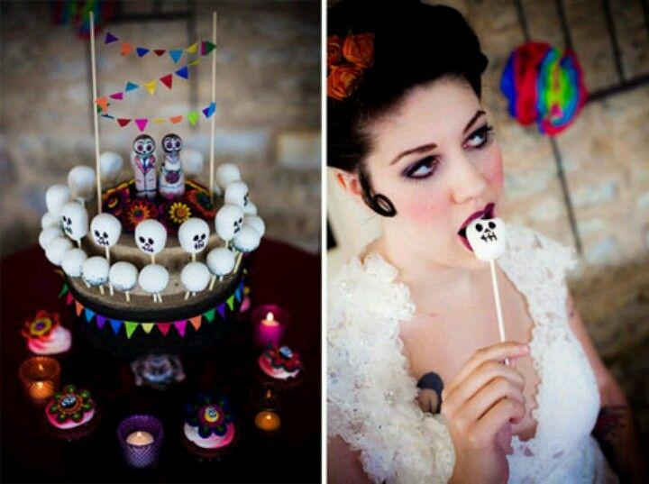 Skull cakepops