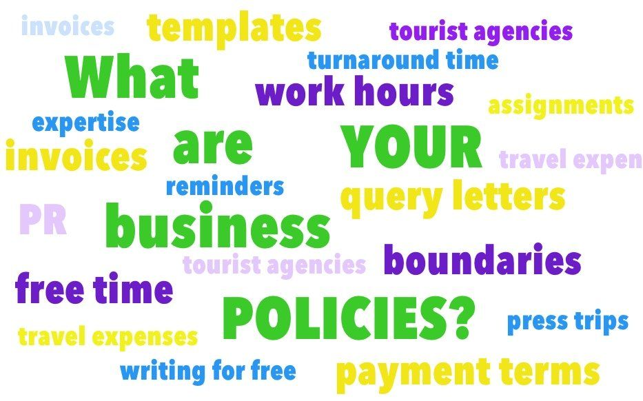 WhatS Your Business Policy For Travel Writing Press Trips One