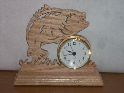 Oak big bass clock | wfwoodworks - Woodworking on ArtFire