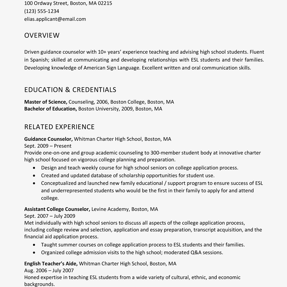 Profile On Resume Examples Resume profile examples