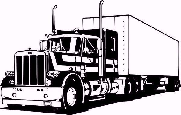 Big Rig Wall Sticker Camiones De Transporte Imagenes Camiones Camion Dibujo
