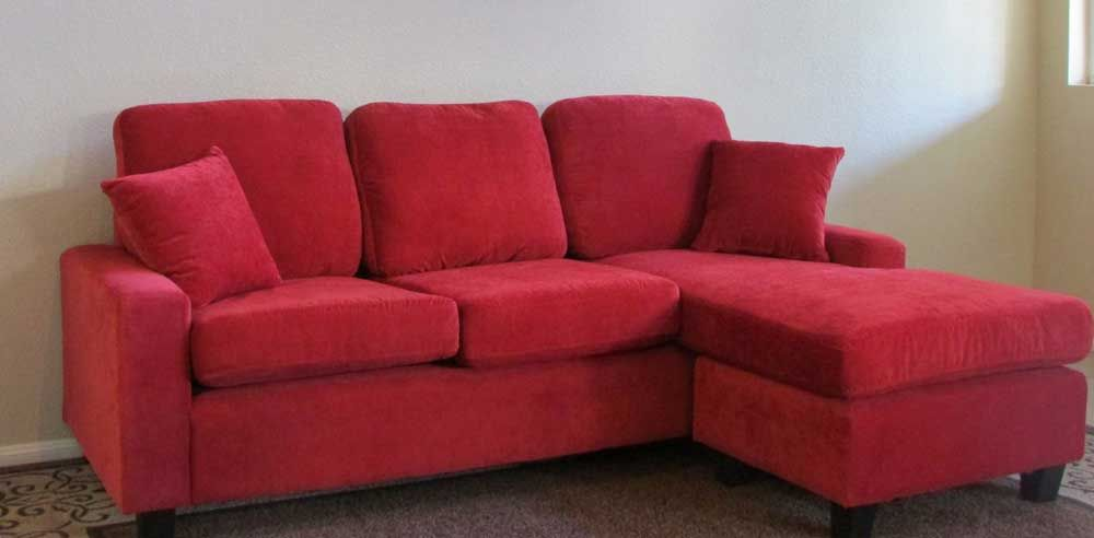 Exceptional Red Sofa Red Sectional Sofa With Chaise