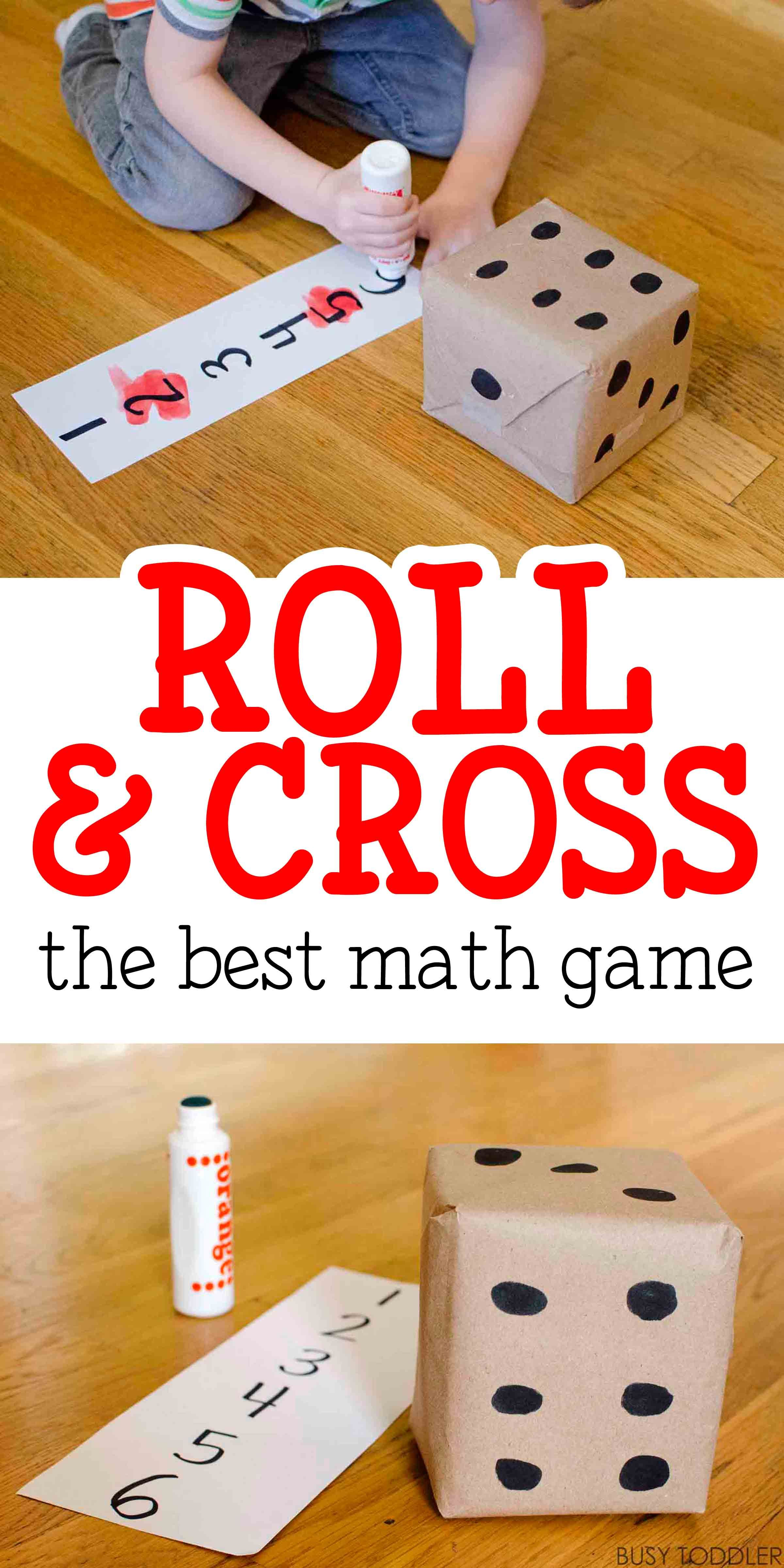 Roll & Cross Math Game | Pinterest | Easy math, Easy math games and ...