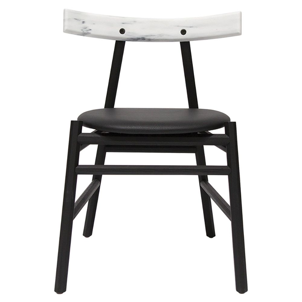Ronin Dining Chair White Marble Back Ronin Is A Graphic Chair The Lines Are Inspired By Japanese Traditiona Graphic Chair Dining Chairs Traditional Cabinets