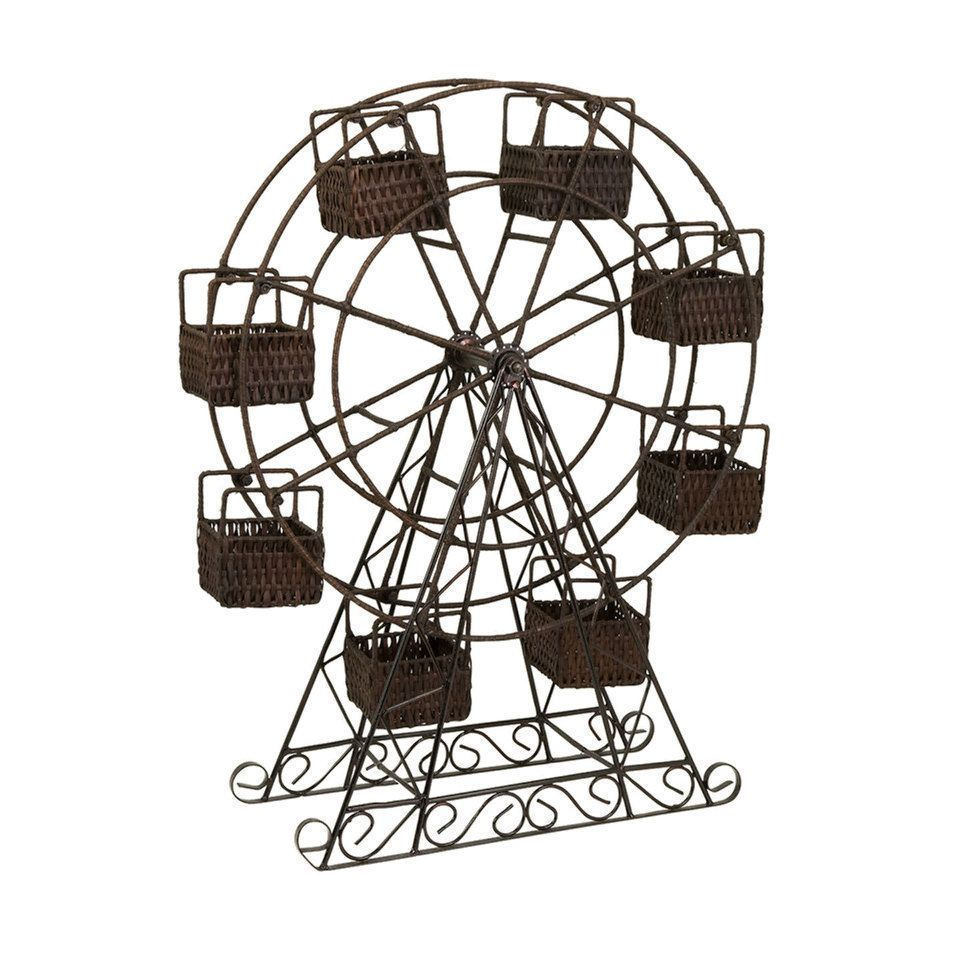 imax ferris wheel with planter baskets beyond the rack my