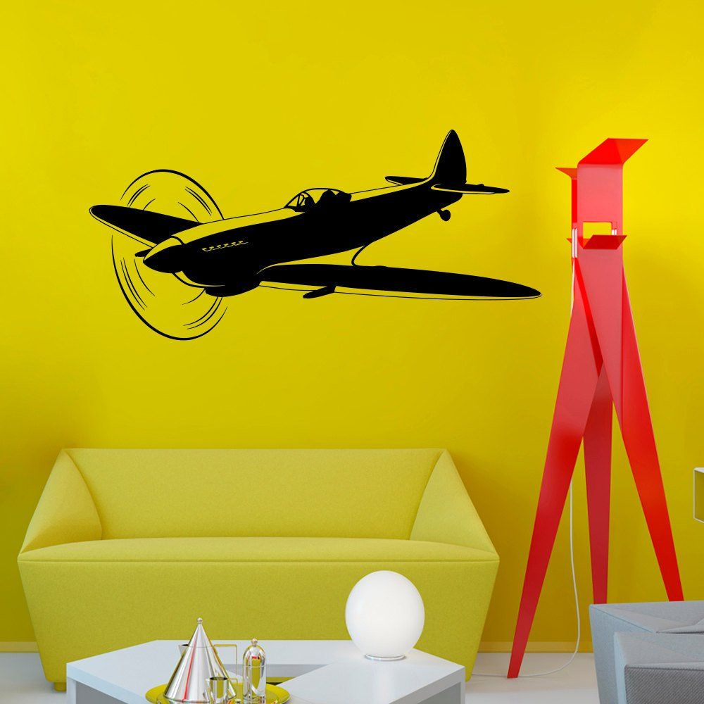 Wall Decals Military Aircrafts Plane Airplane Fighter Jet Copter ...