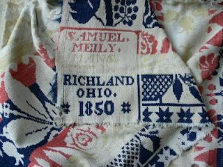Overshot coverlet: personal collection of Chris McLaughlin