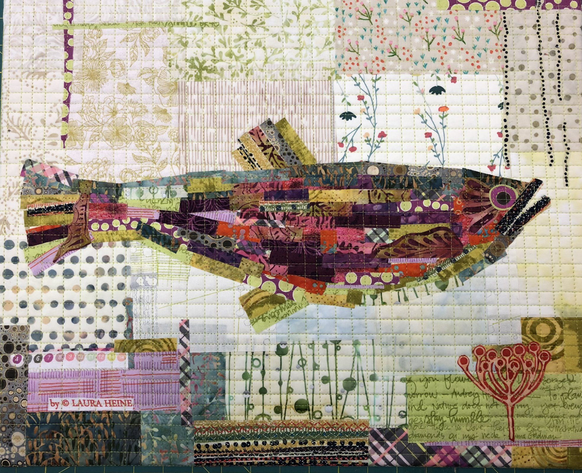 Teeny Tiny Collage Quilt Patterns Group #2 By Laura Heine of Fiberworks