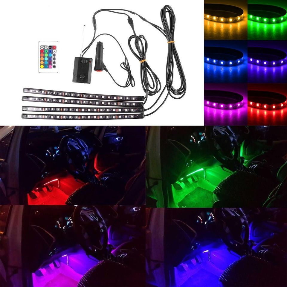 Mokungit 12 8 color 5050 18 smdwireless music control rgb sound mokungit 12 8 color 5050 18 smdwireless music control rgb sound activated interior led light strip car charger for car truck buy car led lightcar mozeypictures Choice Image