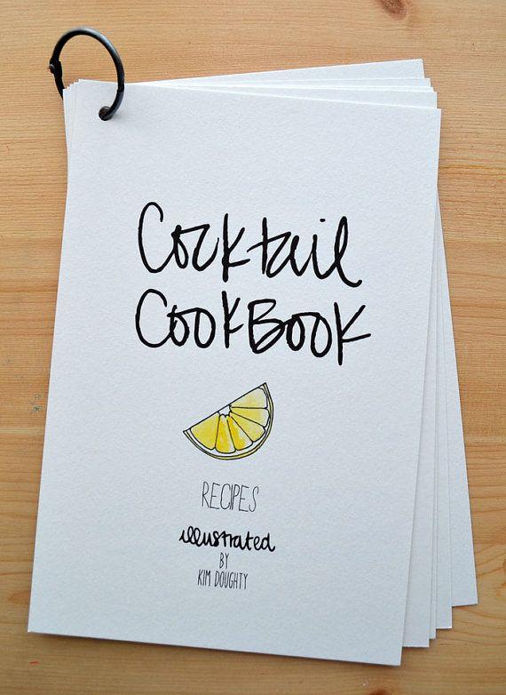 Cocktail Cook Book on Etsy! | Azul Home | Cookbook design, Menu book