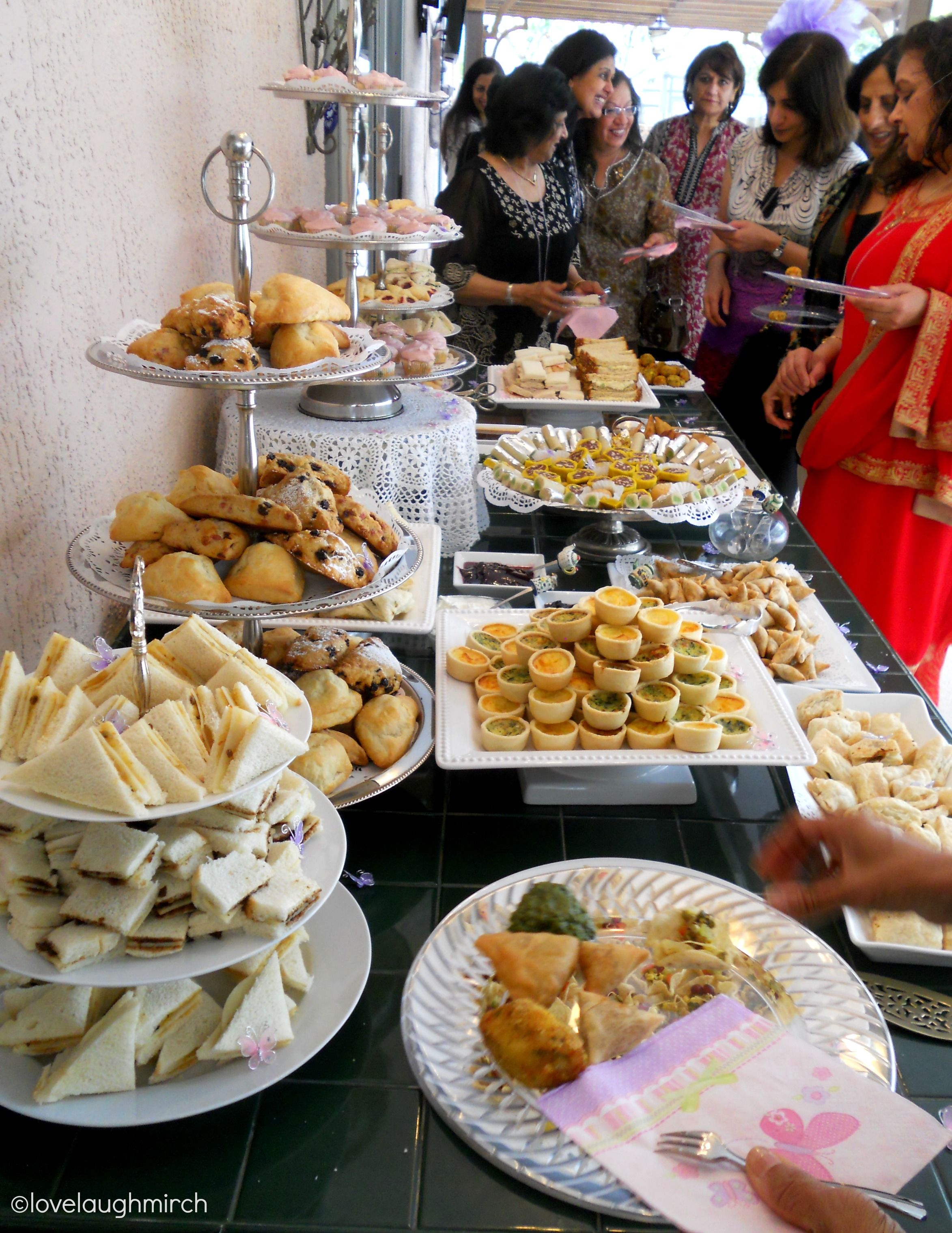 Buffet Party High Tea Baby Shower Dessert Buffet Judith Loved English