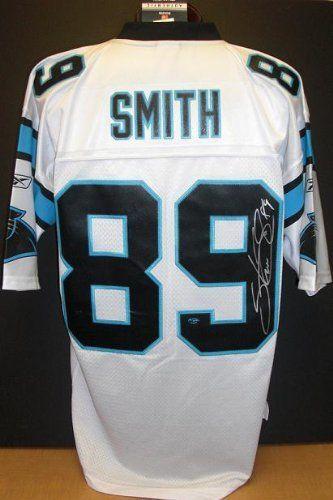 Steve Smith Autographed Carolina Panthers EQT White Jersey - Steve ...