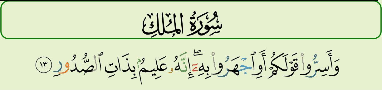67 Sura Al Mulk Aya 13 Via Quranmajeed App By Pakdata
