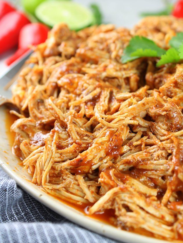 Shredded Mexican Chicken (Instant Pot + Slow Cooker) | Taste And See