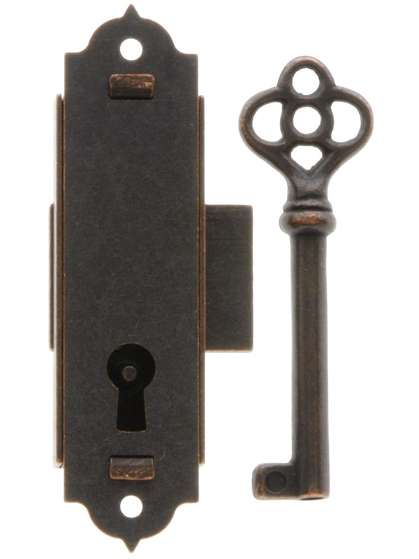 Narrow Vertical Cabinet Lock With Antique Bronze Finish | House of Antique  Hardware - Narrow Vertical Cabinet Lock With Antique Bronze Finish