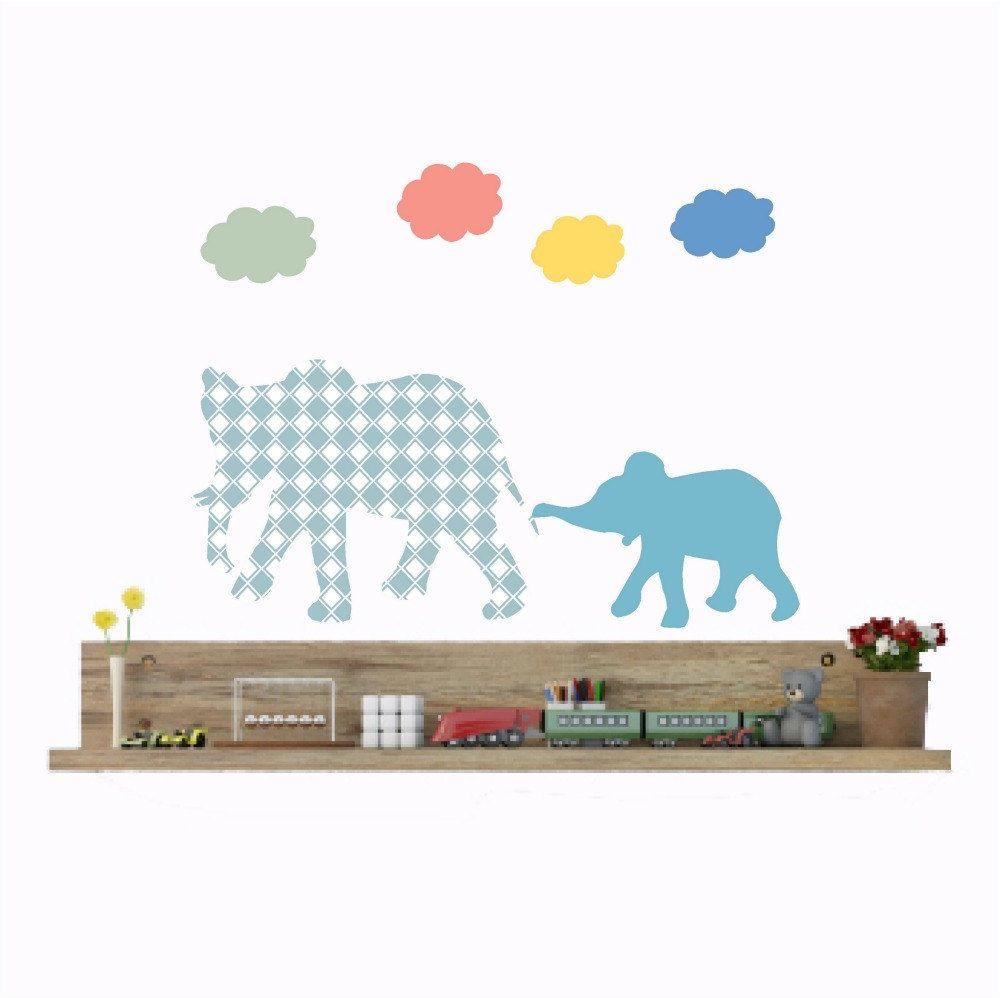 Elephant wall decal nursery elephant decor baby elephant elephant wall decal nursery elephant decor baby elephant elephant sticker cloud wall decals blue elephant baby boy nursery baby gift negle Image collections