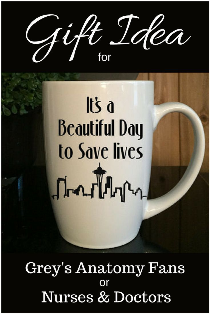 cute mug as christmas gift idea for the nurse or doctor in your life or greys