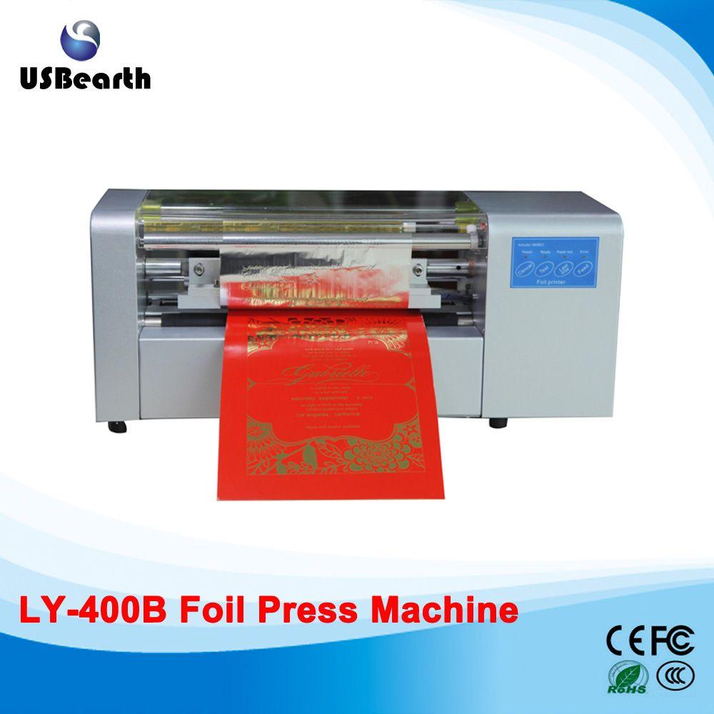 Ly 400b Foil Press Machine Digital Hot Foil Printing Machine To Eu Country Free Tax Printing Business Cards Cool Business Cards Business Card Printer