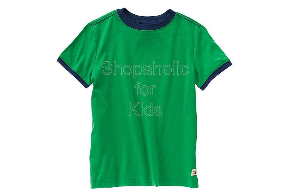 Code: 01923.  Crazy8 Logo Ringer Tee. Color: Super Green. Size: XL (10y). - To order: http://www.shopaholic.com.ph/#!/Crazy8-Logo-Ringer-Tee-Super-Green/p/53103105/category=6708179