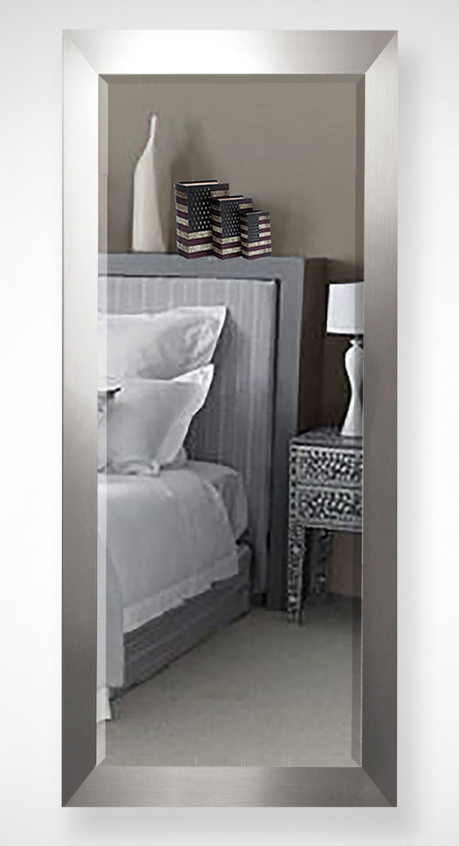 American Made Rayne Modern Silver Wall/Vanity Mirror Size