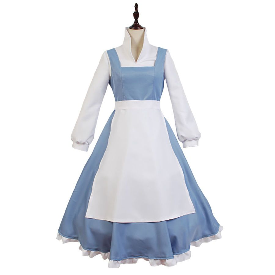 Details About The Beauty And The Beast Belle Maid Maid Dress Cosplay Costume Carnival Belle Costume Princess Belle Costume Maid Costume