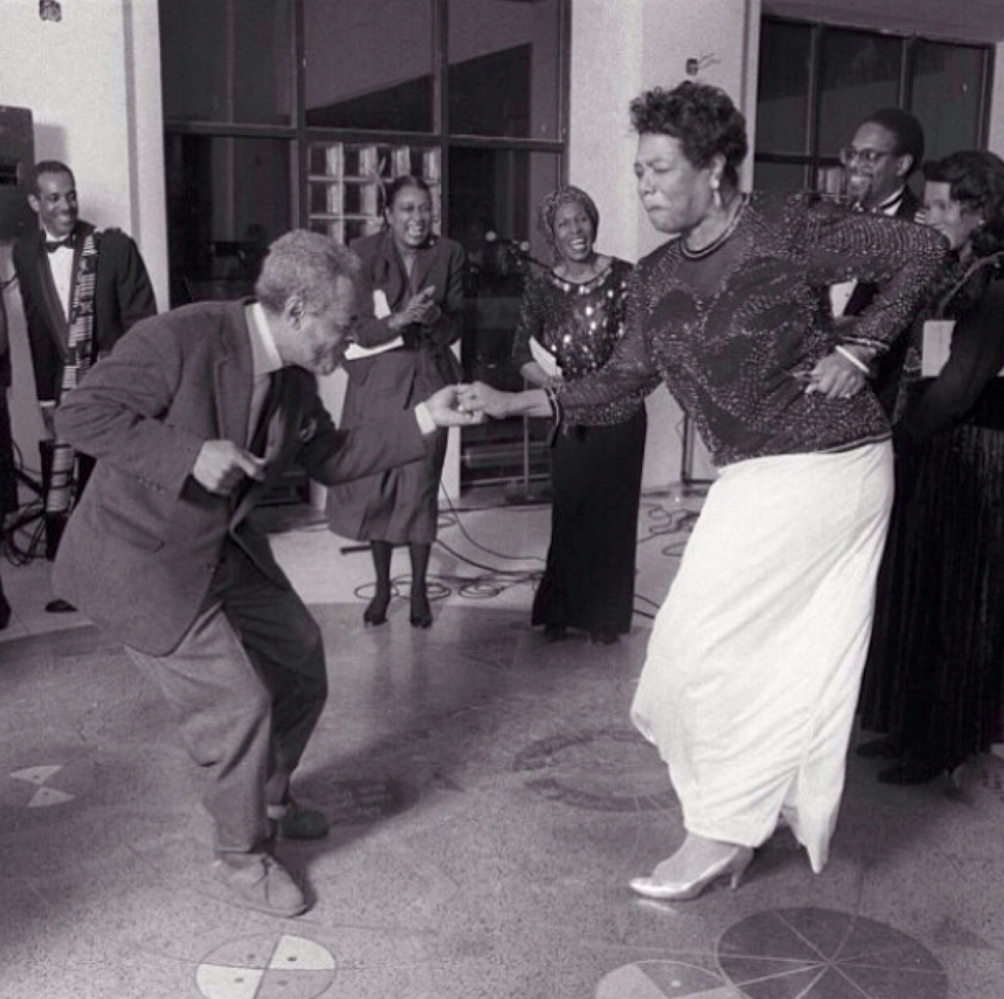 Maya Angelou Dancing With The Poet Amiri Baraka Over The Ashes Of