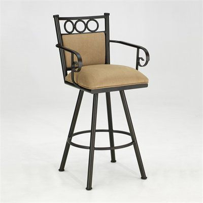 Iron Mountain Tate Swivel Barstool With Arms Home Furniture Showroom