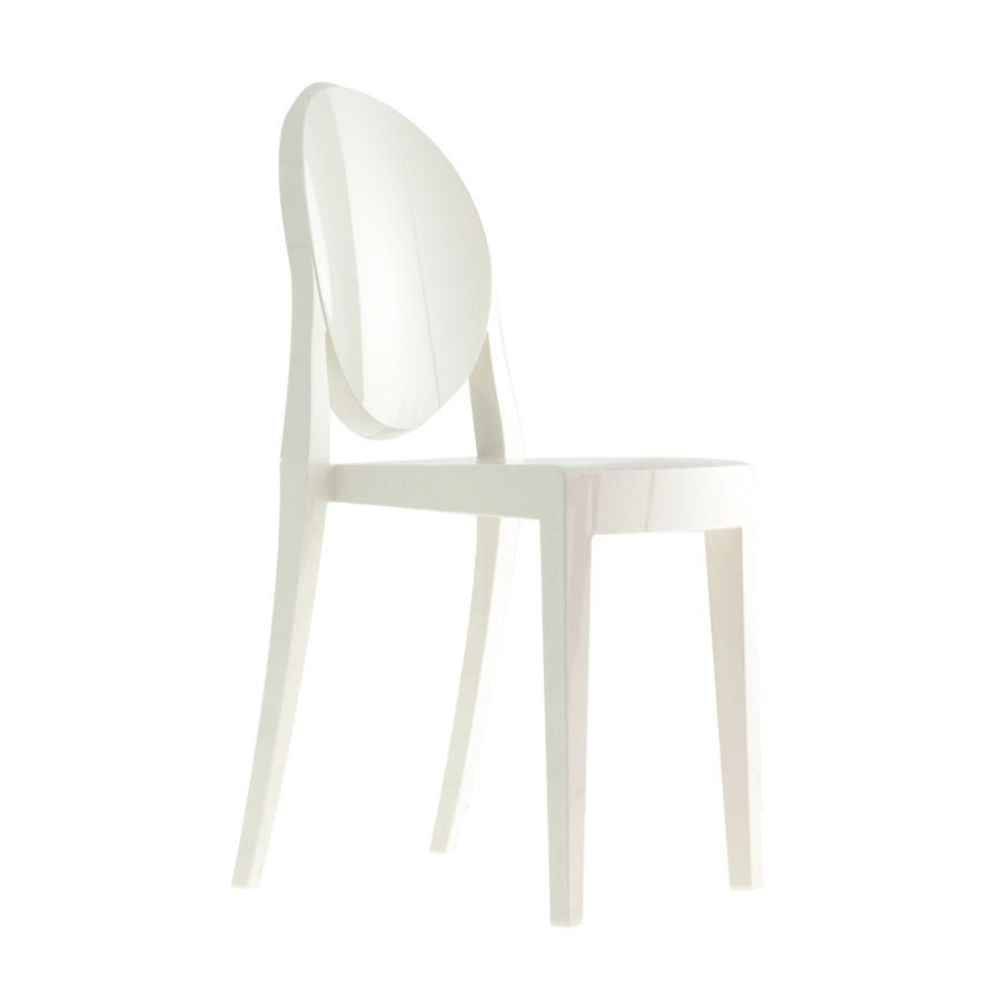 Polycarbonate chair white mod. Victoria Ghost, Kartell ...