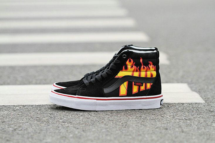 basket vans flame