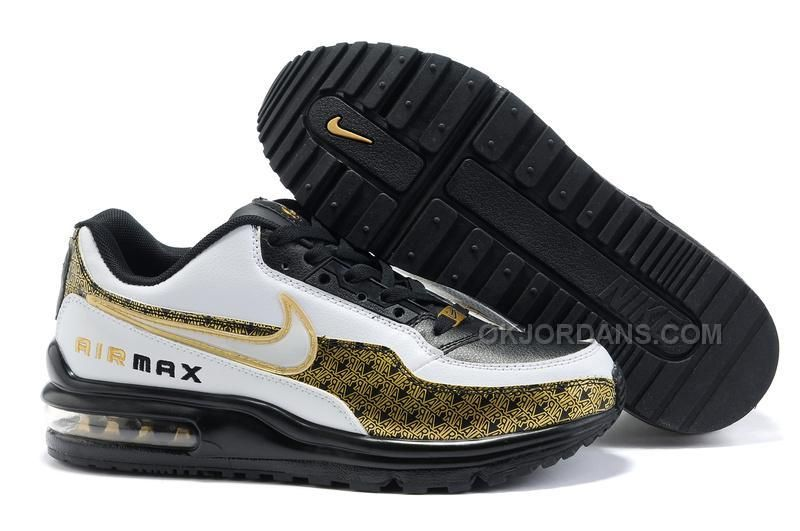 on sale dbe45 8e00d Only 99.00 AIR MAX LTD 01 MENS SHOES BLACK WHITE GOLD Free Shipping!