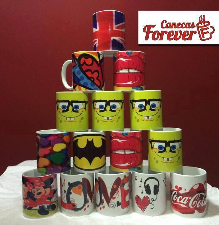 Lindas canecas personalizadas prontas para serem entregues e fazer muita gente feliz com lindos presentes! www.facebook.com/CanecasForever