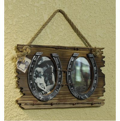 horseshoe picture frame diy with a bite imagegator