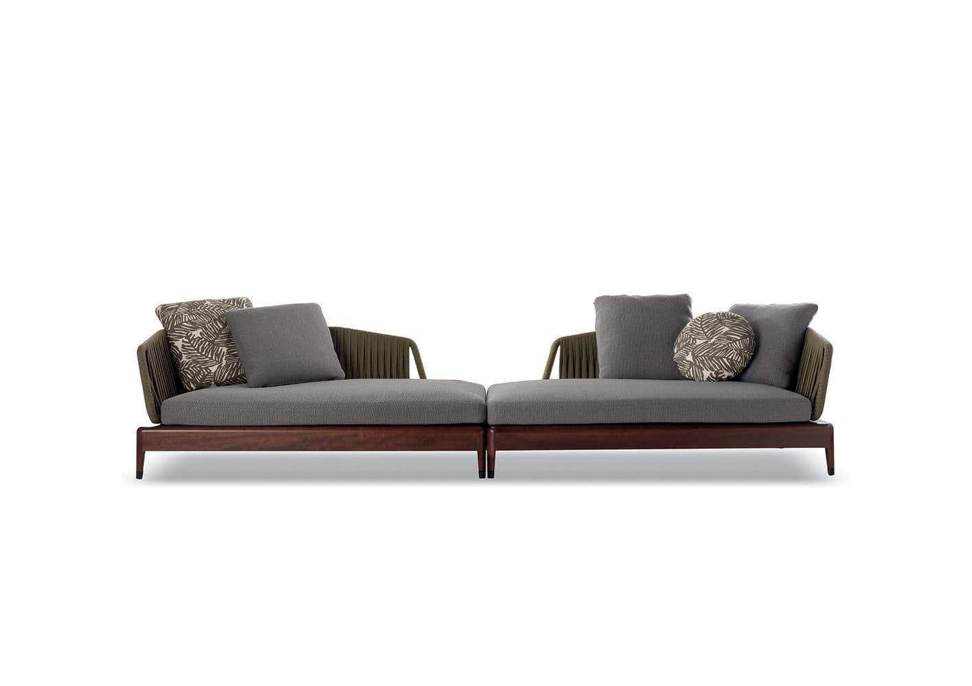 Modular Sofa Contemporary Outdoor Fabric Indiana Minotti