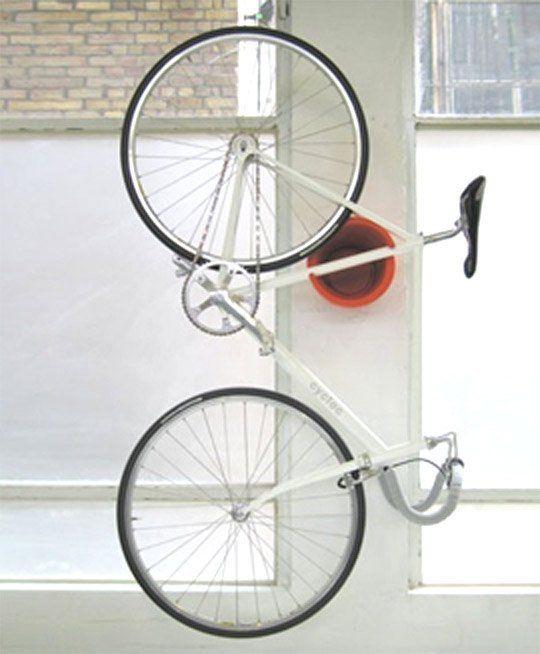 Look: Neat Bike Storage Solution! U2014 Austin