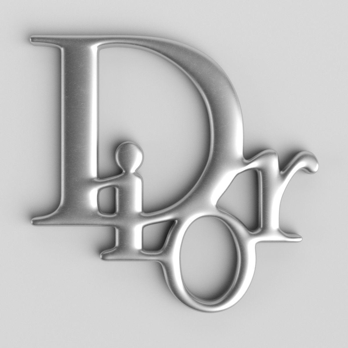 Dior Cast Metal Label 3d Cgtrader Monogram Wallpaper Dior Logo Crazy Wallpaper