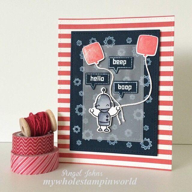 Lawn Fawn - Beep Boop Birthday _ adorable card by Angel via Flicrk