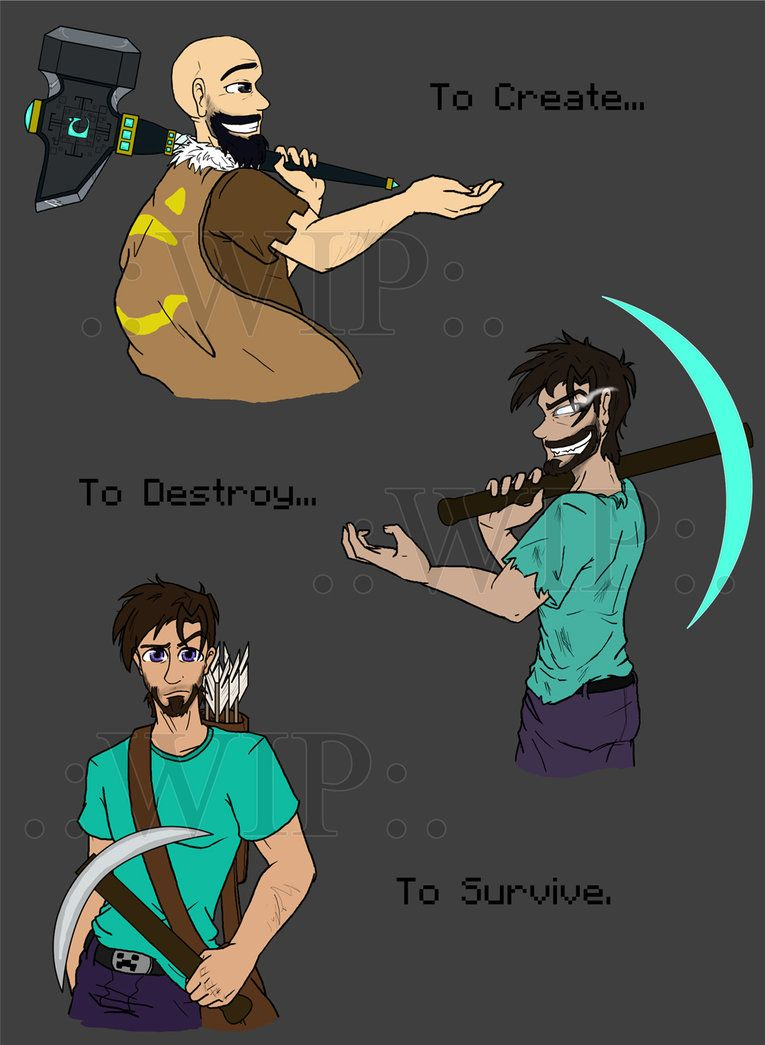 MC:To Create, To Destroy, To Survive .:WIP:. by MidNight-Vixen
