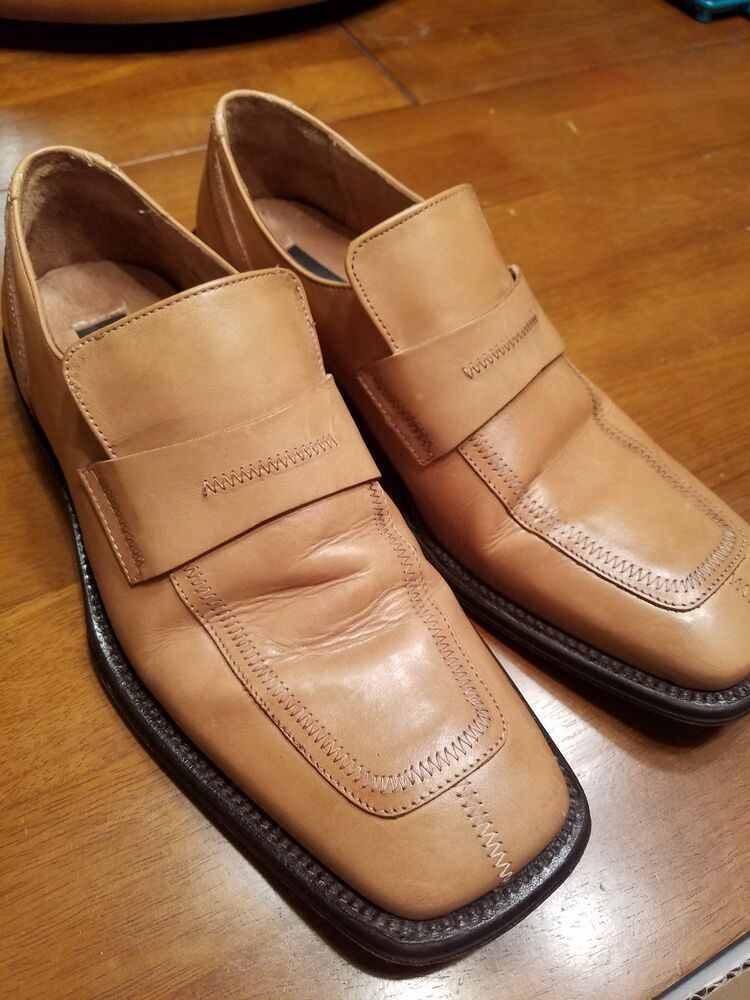 d4c83d78f5b Kenneth Cole New York Made in Italy Square Toe Loafers Mens size 9.5 Vero  Cuoio  fashion  clothing  shoes  accessories  mensshoes  dressshoes (ebay  link)