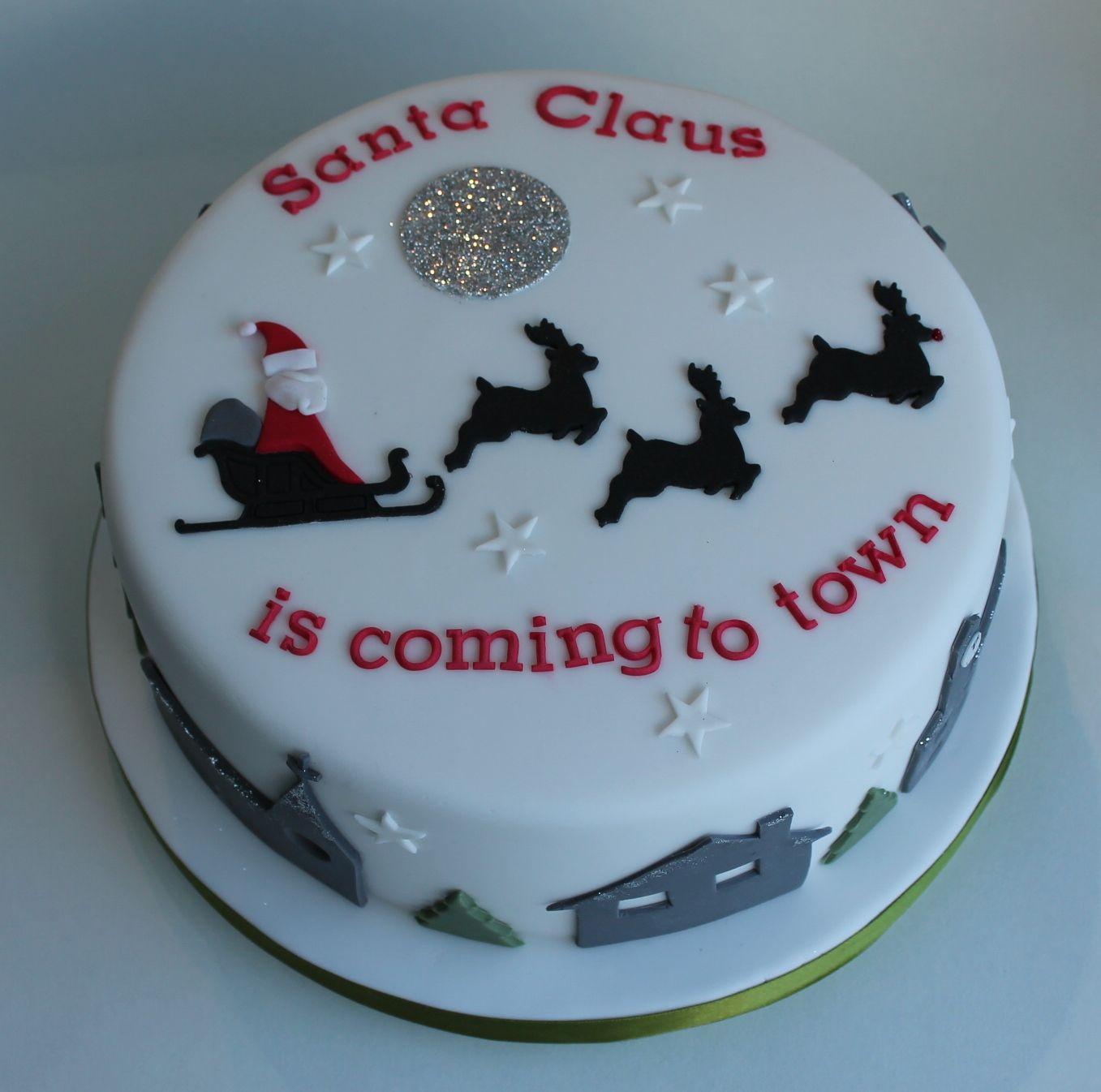 Santa Claus Christmas cake by The Little Velvet Cake Company