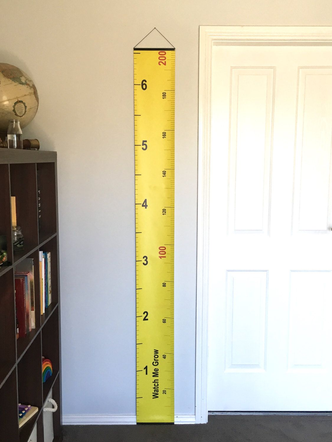 Yellow Tape Measure Hanging Height Chart, Imperial & Metric Height ...