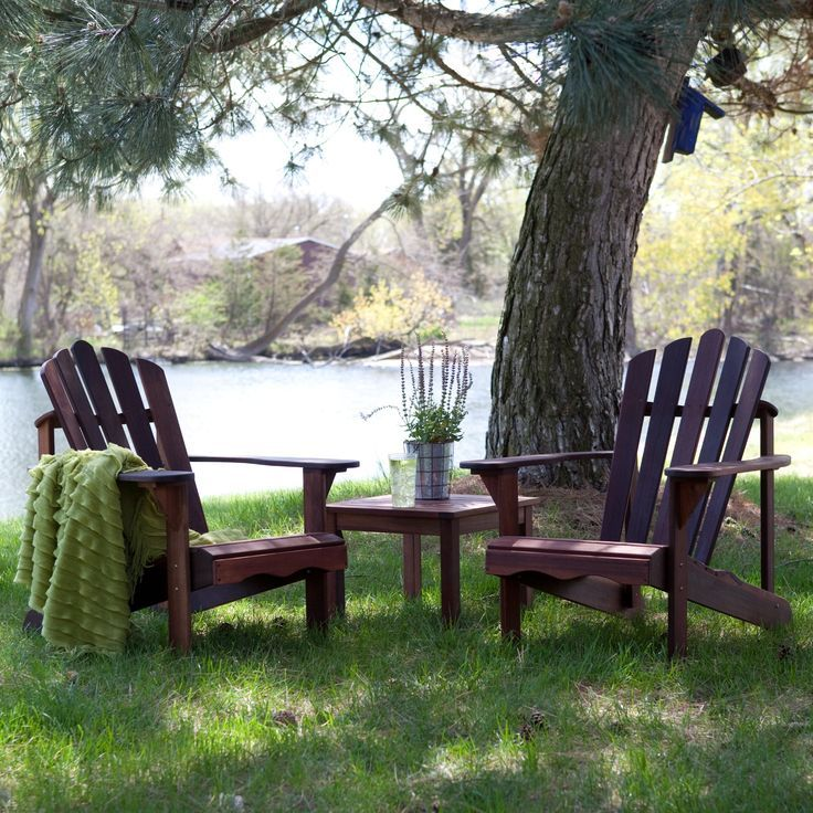 This set of two comfortable and sturdy outdoor chairs is ... on Belham Living Richmond Bench id=82182