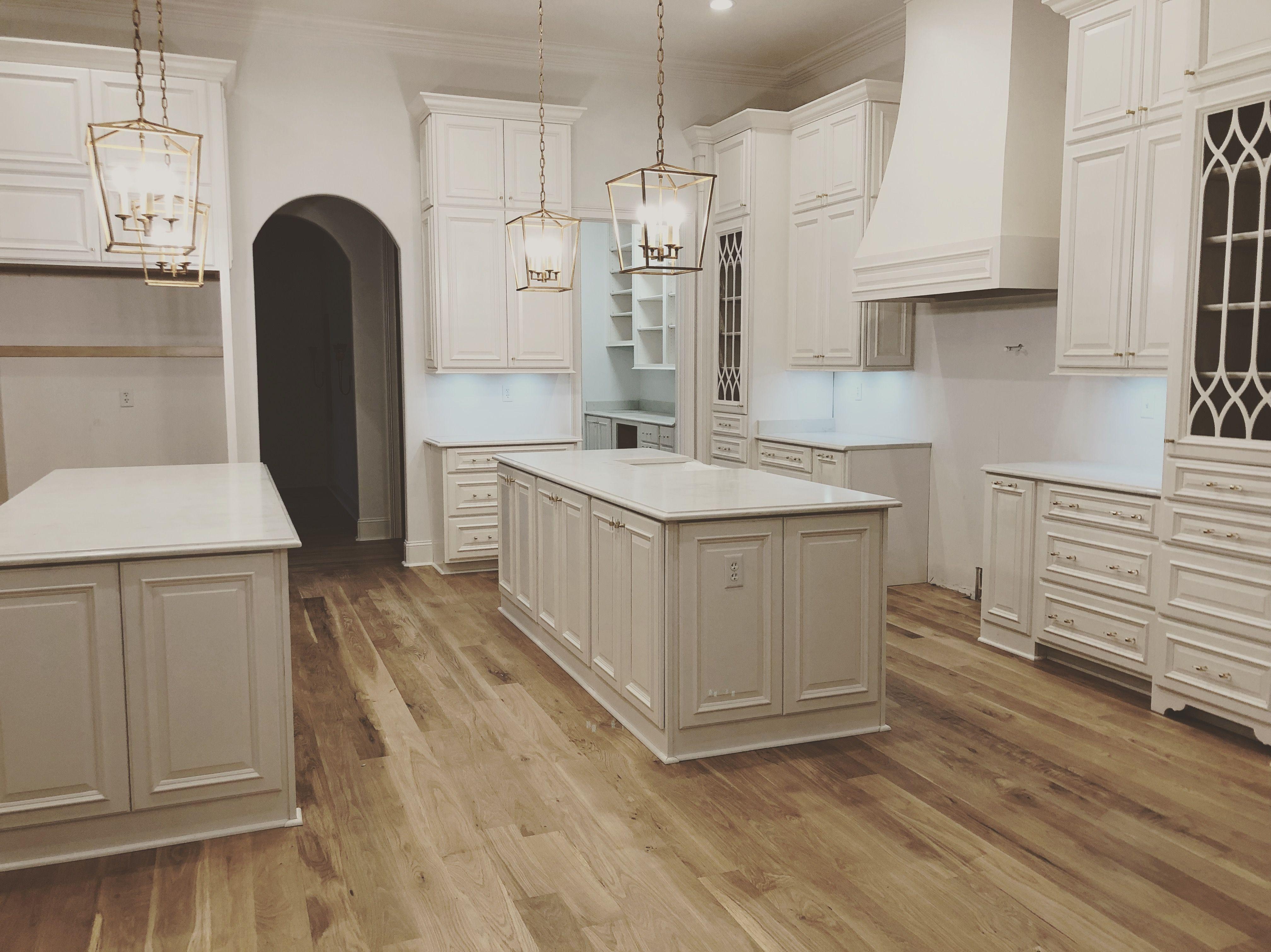 White Kitchen with natural floors   White kitchen, White oak ...